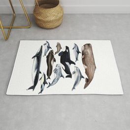 Atlantic whales, dolphins and orca Rug