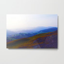 Land of Legends - Blue, Green and Purple Metal Print