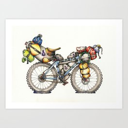 Bikepacking Full Color!! Art Print
