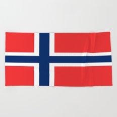 Flag of norway Beach Towel