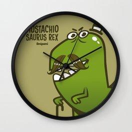 Mustachio Saurus Rex Wall Clock