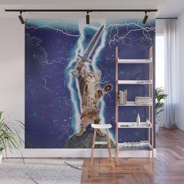 Lightning Cat Wall Mural