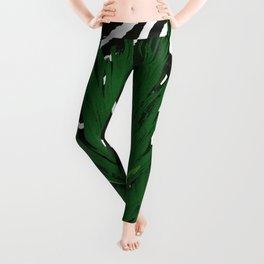 ZEBRA PALM WINTER GREEN Leggings