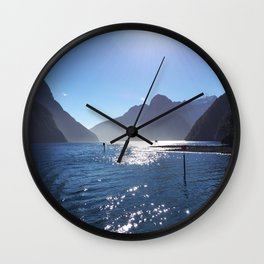 New Zealand's beauty *Milford Sound Wall Clock