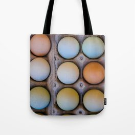 colorful eggs from southern Chile Tote Bag