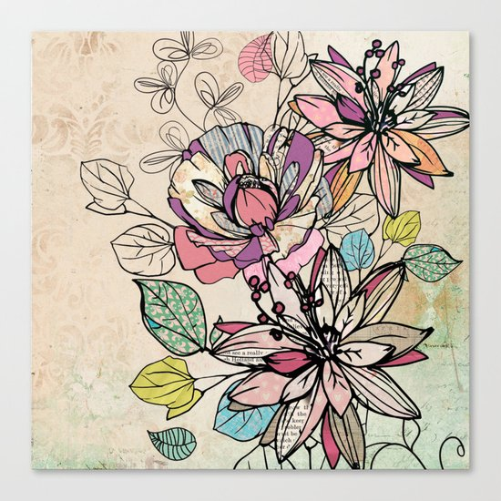 Paper Flowers #6 Canvas Print