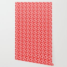 Jungle Friends Shades of Red Cheater Quilt Wallpaper
