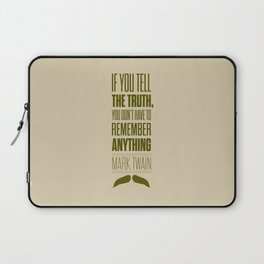 Lab No. 4 - Mark Twain quote truth life modern typographic Inspirational Quotes Poster Laptop Sleeve