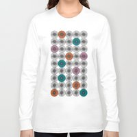 scandinavian Long Sleeve T-shirts featuring Scandinavian Abstract Floral by She's That Wallflower