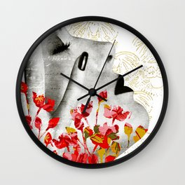 Hand of a Woman Collage Wall Clock