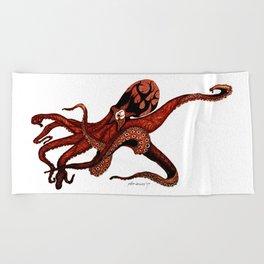 Octoclipse Beach Towel
