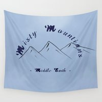 hobbit Wall Tapestries featuring Misty Mountians : The Hobbit by Noal's Corner