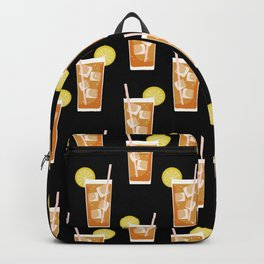 ice sweet tea summer southern stripes food fight apparel and gifts black Backpack