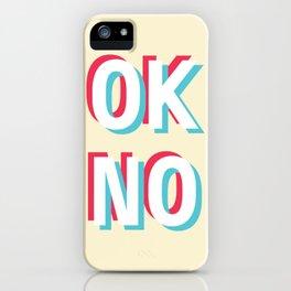 Ok no (red/blue) iPhone Case