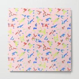 Aerobics Primary Colors Metal Print