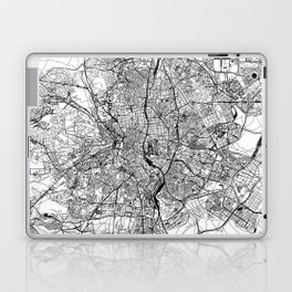Madrid White Map Laptop & iPad Skin