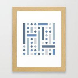 Brevard Blue Shapes Framed Art Print