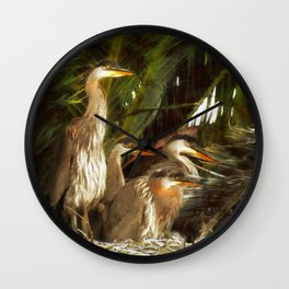 More Punked Chicks Wall Clock