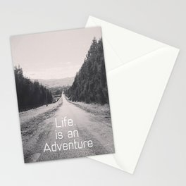 Life. Is an Adventure Stationery Cards
