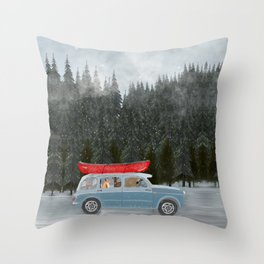 winter holiday Throw Pillow