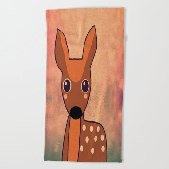Little Deer-96 Beach Towel