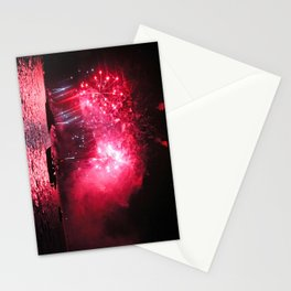 Galaxy Fireworks over South Lake Tahoe Stationery Cards
