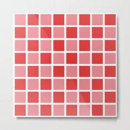 Modern Checkers (red tiles) Metal Print