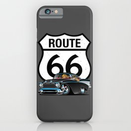Route 66 Classic Car Nostalgia iPhone Case