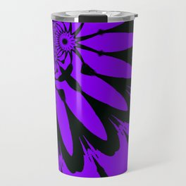 The Modern Flower Purple Travel Mug