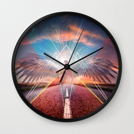 the angel  Wall Clock