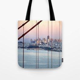 SAN FRANCISCO & GOLDEN GATE BRIDGE AT SUNSET Tote Bag
