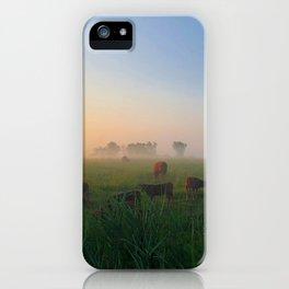 Par un matin de brume iPhone Case