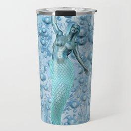 Metal Mermaid Travel Mug