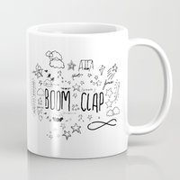charli xcx Mugs featuring BOOM CLAP by Wis Marvin