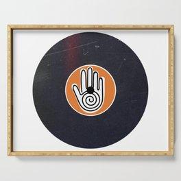 Vinyl Record Art Mandala Hand Serving Tray