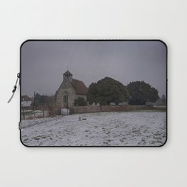 Goodnestone Church In Winter Laptop Sleeve