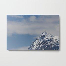 Alaska Mountain Top Metal Print