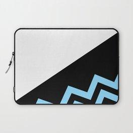 Blue on Black Laptop Sleeve