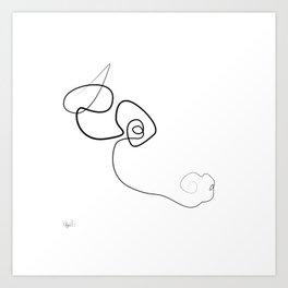 Midnight Bull Art Print