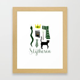 The House of Slytherin Framed Art Print