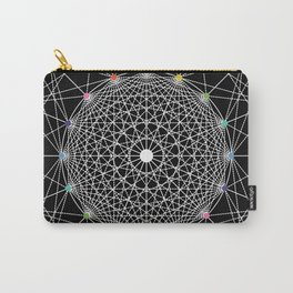 Geometric Circle Black/White/Colour Carry-All Pouch