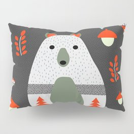 Christmas bears and birds Pillow Sham