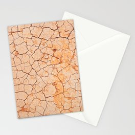 Cracked dry land pattern Stationery Cards