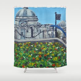 Spring at City Hall, Cardiff Shower Curtain