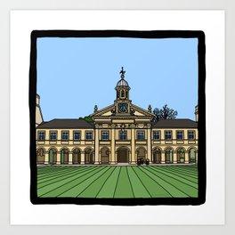 Cambridge struggles: Emmanuel College Art Print