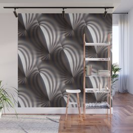 Push and squeeze with misty stripes Wall Mural