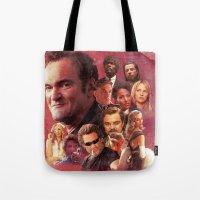 quentin tarantino Tote Bags featuring Tarantino by turksworks