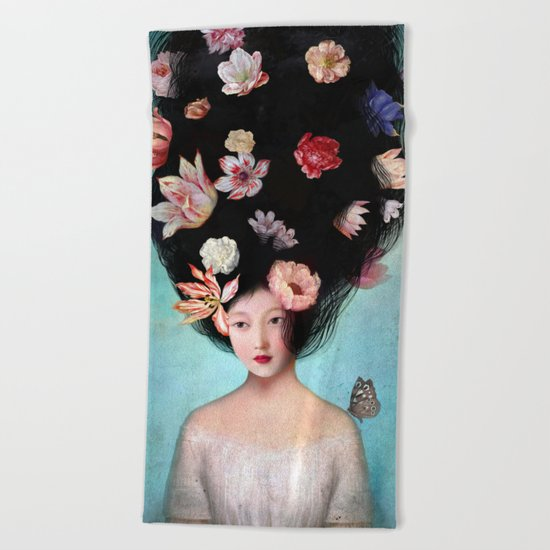 The Botanist's Daughter Beach Towel