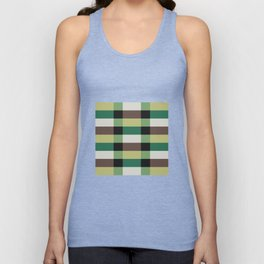IKEA STOCKHOLM Rug Pattern - chequered, green Unisex Tank Top