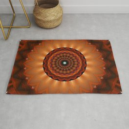 Mandala orange brown Rug